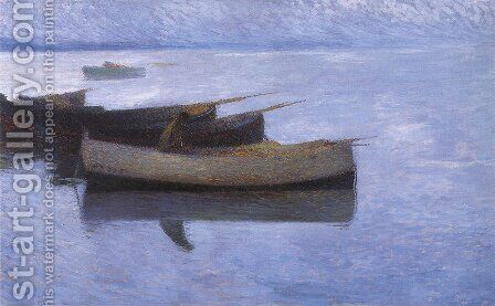 Marine Grey Weather by Henri Martin - Reproduction Oil Painting