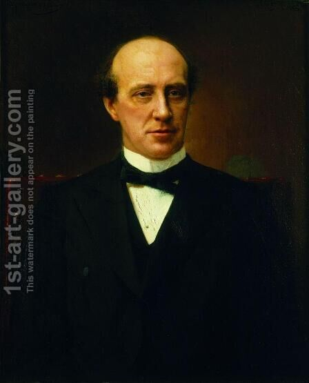 Portrait of Yuri Stepanovich Nechaev-Maltsev by Ivan Nikolaevich Kramskoy - Reproduction Oil Painting