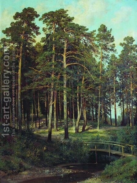 Bridge in the Forest by Ivan Shishkin - Reproduction Oil Painting