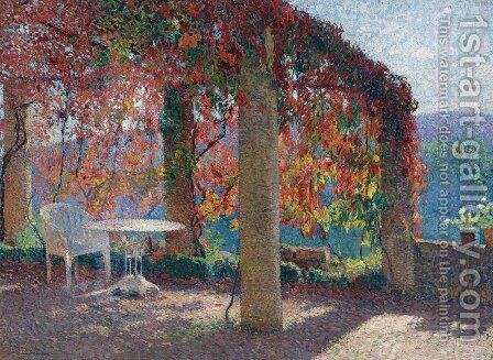 Pergola in Marquayrol in Autumn by Henri Martin - Reproduction Oil Painting