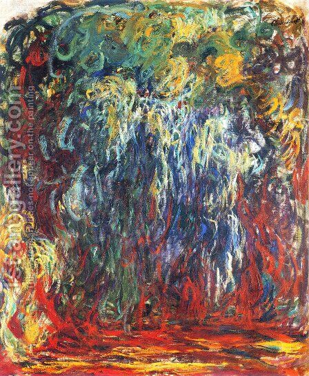 Weeping Willow, Giverny 2 by Claude Oscar Monet - Reproduction Oil Painting