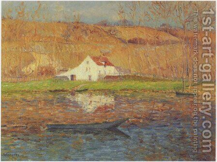 By the Loing River by Gustave Loiseau - Reproduction Oil Painting