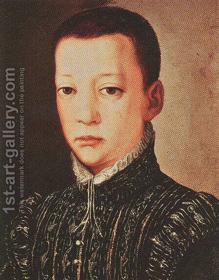 Pietro de' Medici 2 by Agnolo Bronzino - Reproduction Oil Painting