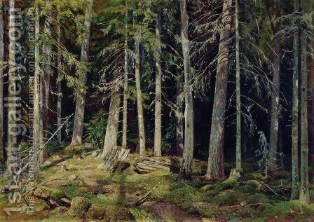 Forest. Mounds by Ivan Shishkin - Reproduction Oil Painting
