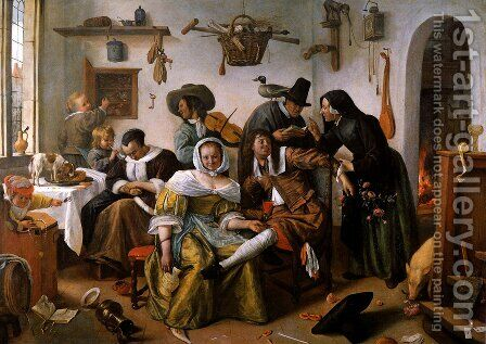 Wealth is looking by Jan Steen - Reproduction Oil Painting