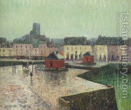 Port at Dieppe by Gustave Loiseau - Reproduction Oil Painting