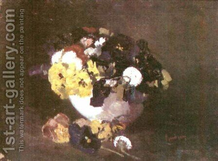 Pansies by Ion Andreescu - Reproduction Oil Painting