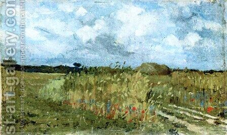 Flowering field by Ion Andreescu - Reproduction Oil Painting