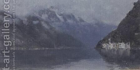 Lake Como 2 by Isaak Ilyich Levitan - Reproduction Oil Painting