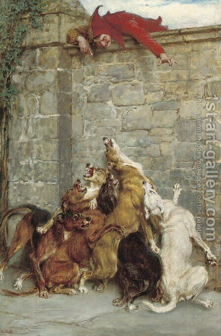 Aggravation by Briton Rivière - Reproduction Oil Painting