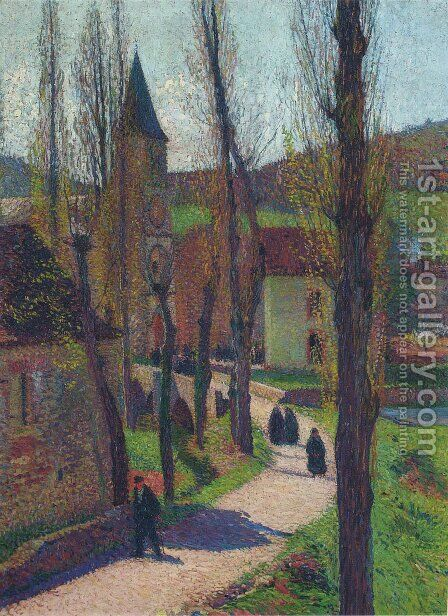 The Church in Labastide du Vert by Henri Martin - Reproduction Oil Painting