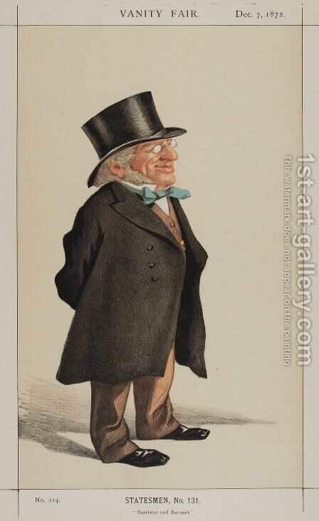 Statesmen No.1310 Caricature of Sir Francis Goldsmid M.P. by James Jacques Joseph Tissot - Reproduction Oil Painting