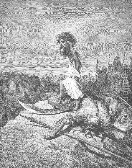 David Slays Goliath by Gustave Dore - Reproduction Oil Painting