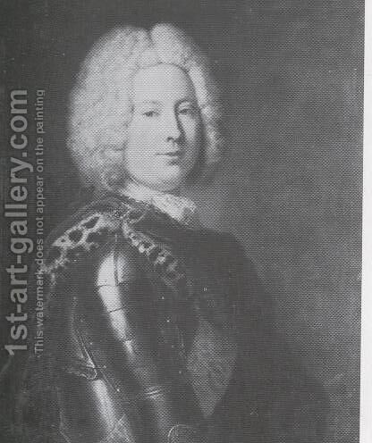 Heinrich von Podewils, Prussian statesman by Antoine Pesne - Reproduction Oil Painting