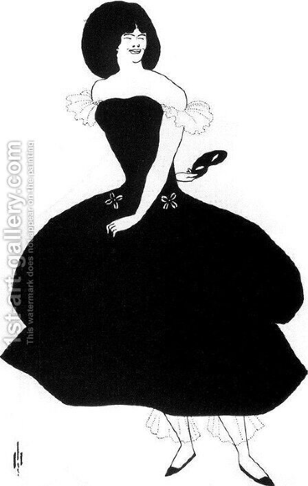 Unknown 7 by Aubrey Vincent Beardsley - Reproduction Oil Painting