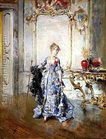 The Last Look in the Mirror by Giovanni Boldini - Reproduction Oil Painting