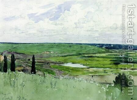Landscape near Chuguevo by Ilya Efimovich Efimovich Repin - Reproduction Oil Painting