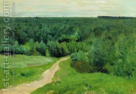 Forest gave by Isaak Ilyich Levitan - Reproduction Oil Painting