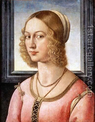 Portrait of Giovanna Tornabuoni by Domenico Ghirlandaio - Reproduction Oil Painting