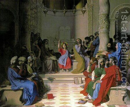 Jesus Among the Doctors by Jean Auguste Dominique Ingres - Reproduction Oil Painting