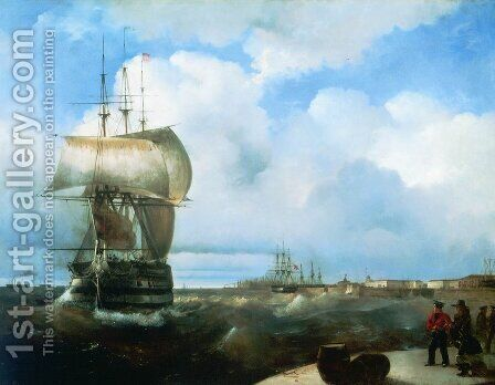 The Great Roads at Kronstadt by Ivan Konstantinovich Aivazovsky - Reproduction Oil Painting