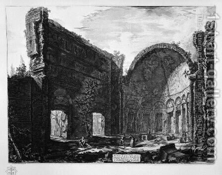 Remains of a hall belonging to the Villa Adriana Castro Pretorio in Tivoli by Giovanni Battista Piranesi - Reproduction Oil Painting