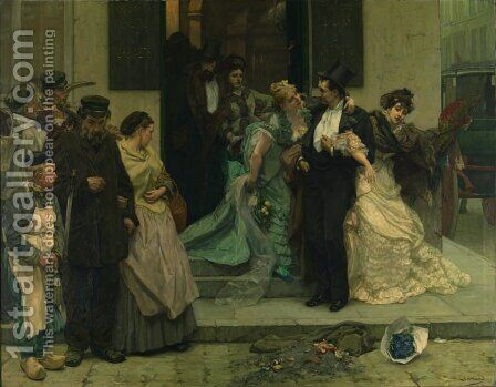 A l'Aube by Charles Hermans - Reproduction Oil Painting