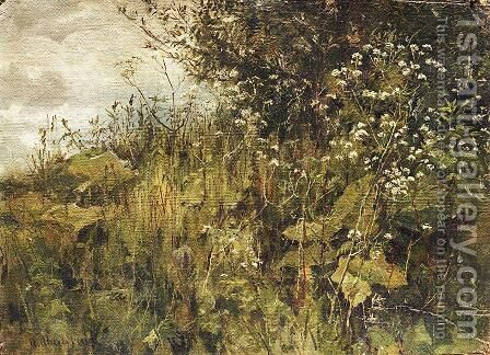 Goutweed-grass by Ivan Shishkin - Reproduction Oil Painting
