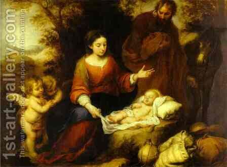 The Rest on the Flight into Egypt by Bartolome Esteban Murillo - Reproduction Oil Painting