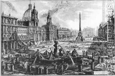 Vedute di Roma 10 by Giovanni Battista Piranesi - Reproduction Oil Painting