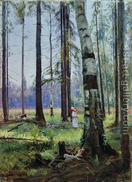 Edge of the Forest by Ivan Shishkin - Reproduction Oil Painting