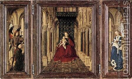 The Virgin and Child in a Church by Jan Van Eyck - Reproduction Oil Painting