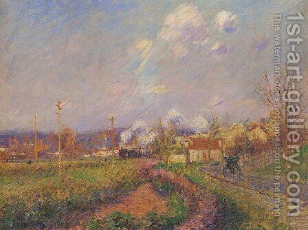 Landscape in Autumn by Gustave Loiseau - Reproduction Oil Painting