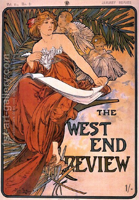 The west end review by Alphonse Maria Mucha - Reproduction Oil Painting
