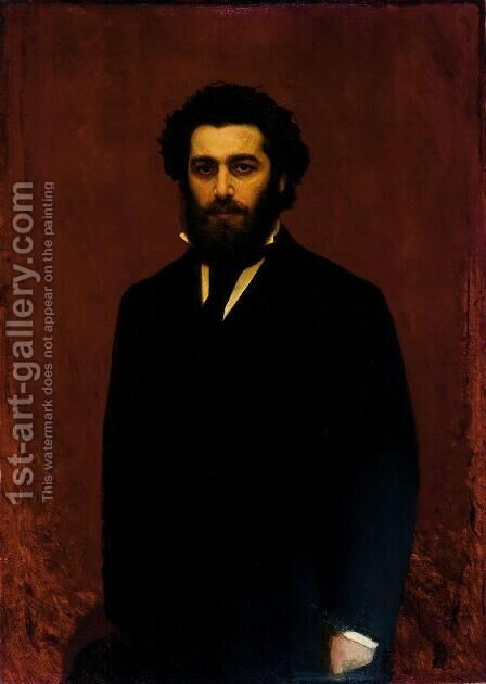 Portrait A.I.Kuindzhi by Ivan Nikolaevich Kramskoy - Reproduction Oil Painting