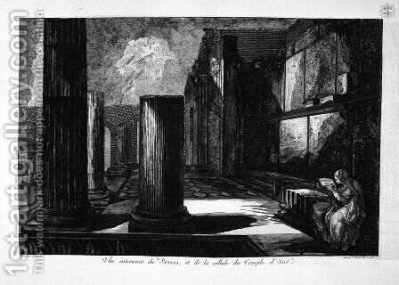The Temple of Isis de face, with the two wings of his peristillo by Giovanni Battista Piranesi - Reproduction Oil Painting