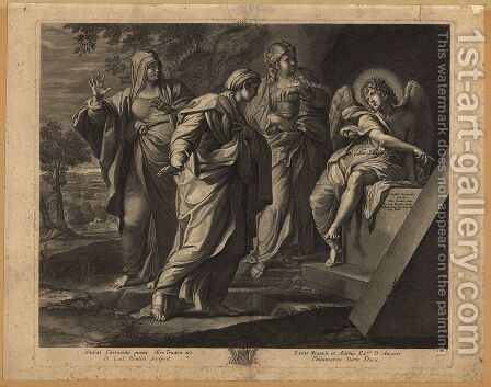 Angel announcing the resurrection of Christ to the three Marys by Annibale Carracci - Reproduction Oil Painting