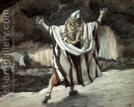 Abraham Sees Sodom in Flames by James Jacques Joseph Tissot - Reproduction Oil Painting