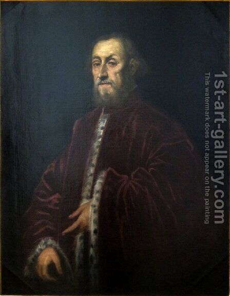 Portrait of a Venetian senator 2 by Jacopo Tintoretto (Robusti) - Reproduction Oil Painting