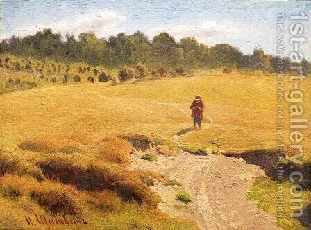 The Boy in the field by Ivan Shishkin - Reproduction Oil Painting
