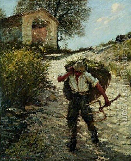 Ancient Provencal Road by Henry Herbert La Thangue - Reproduction Oil Painting
