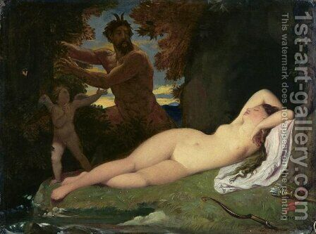 Jupiter and Antiope by Jean Auguste Dominique Ingres - Reproduction Oil Painting