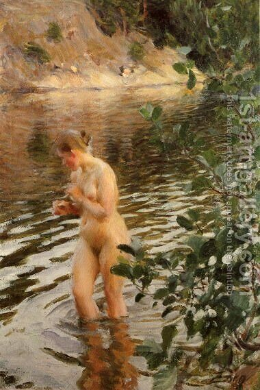 Sensitive to cold by Anders Zorn - Reproduction Oil Painting