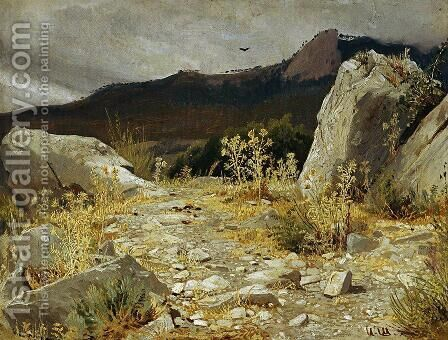 Mountain path. Crimea by Ivan Shishkin - Reproduction Oil Painting