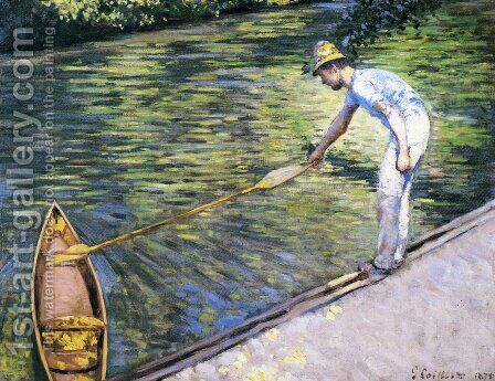 Boating on the Yerres by Gustave Caillebotte - Reproduction Oil Painting