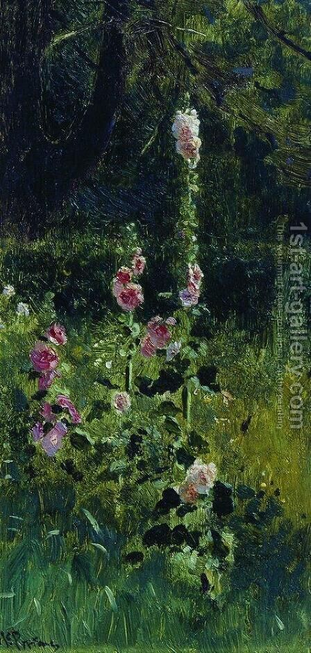 Mallow by Ilya Efimovich Efimovich Repin - Reproduction Oil Painting