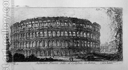 Temple of Jupiter the Thunderer and the Temple of Concord by Giovanni Battista Piranesi - Reproduction Oil Painting