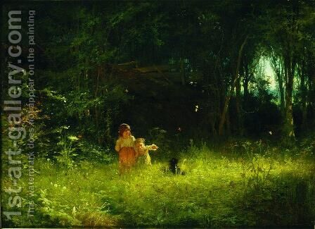 Children in the forest by Ivan Nikolaevich Kramskoy - Reproduction Oil Painting