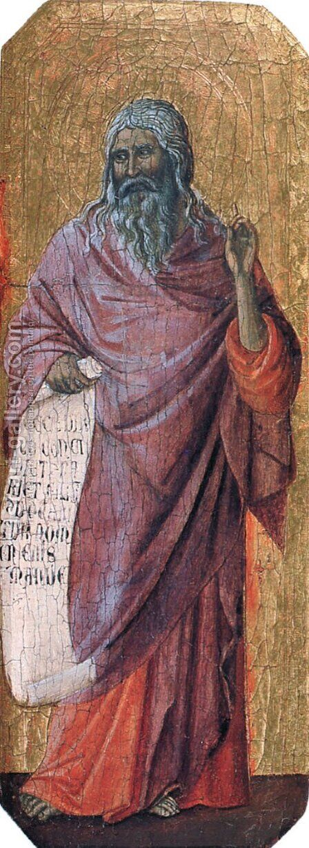 Prophets. Isaiah by Duccio Di Buoninsegna - Reproduction Oil Painting
