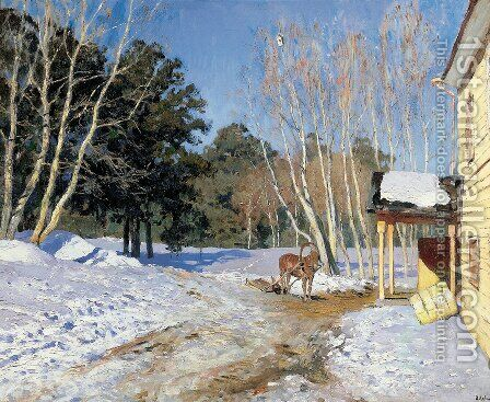 March by Isaak Ilyich Levitan - Reproduction Oil Painting